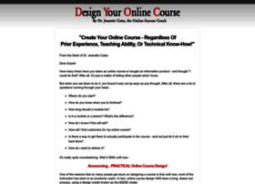 designyouronlinecourse.com