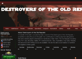 destroyersoftheoldrepublic.guildlaunch.com