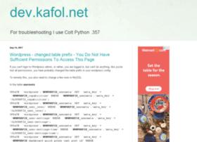 dev.kafol.net