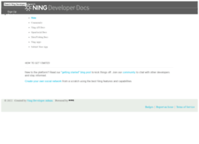 developer.ning.com