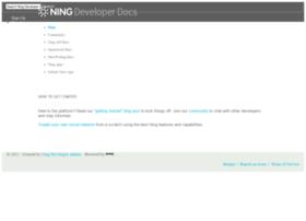 developer.ning.com