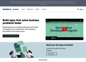developer.servicenow.com