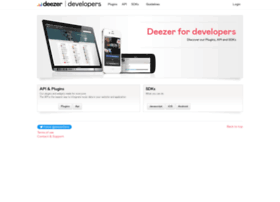 developers.deezer.com