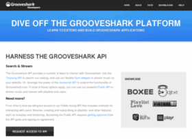 developers.grooveshark.com
