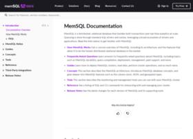 developers.memsql.com