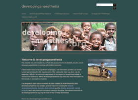 developinganaesthesia.org
