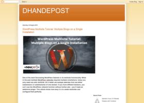 dhandepost.blogspot.com