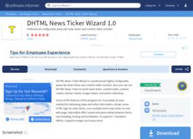 dhtml-news-ticker-wizard.software.informer.com