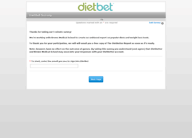 dietbet.questionpro.com