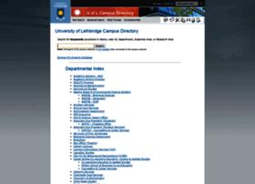directory.uleth.ca
