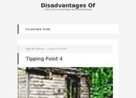 disadvantagesof.com
