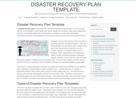 disasterrecoveryplantemplate.org