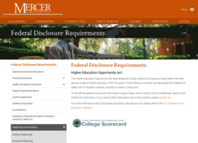 disclosure.mercer.edu