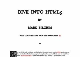 diveinto.html5doctor.com