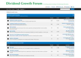 dividendgrowthforum.com