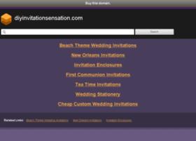 Diyinvitationsensation.com