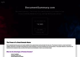 documentsummary.com