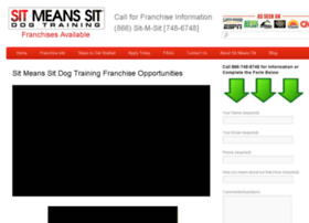 dog-training-franchise.sitmeanssit.com