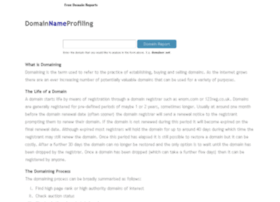domainnameprofiling.com