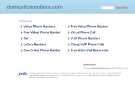 domesticnumbers.com