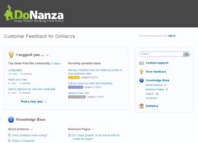 donanza.uservoice.com