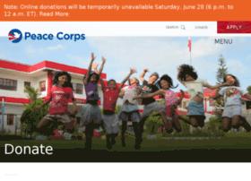 donate.peacecorps.gov