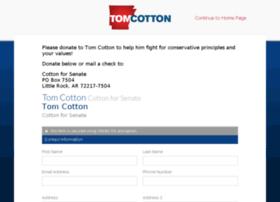 donate.tomcotton.com