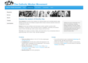 dorothyday.catholicworker.org