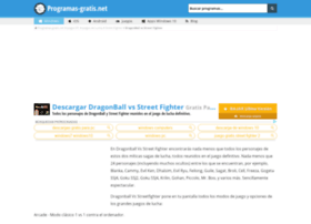 dragonball-vs-street-fighter.programas-gratis.net