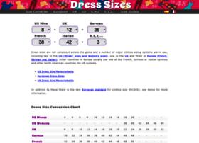 dresssizes.org