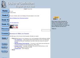 dukeofdefinition.com
