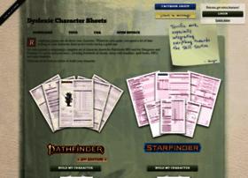 dyslexic-charactersheets.com