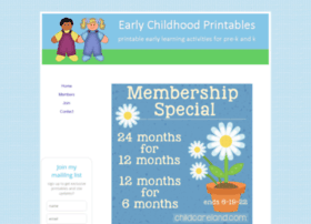 earlychildhoodprintables.com