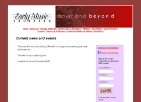 earlymusiccolorado.org