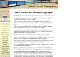 easiest-foreign-languages.com