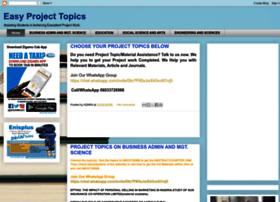 easyprojecttopics.blogspot.com