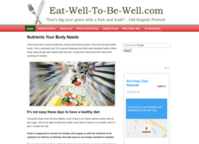 eat-well-to-be-well.com