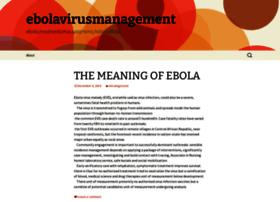 ebolavirusmanagement.wordpress.com