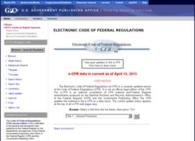 ecfr.gpoaccess.gov
