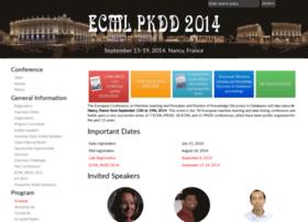ecmlpkdd2014.loria.fr