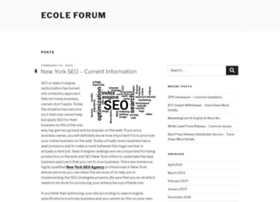 ecoleforum.com