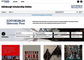 edinburgh.universitypressscholarship.com