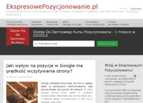 ekspresowepozycjonowanie.pl
