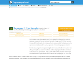 el-erizo-sumador.programas-gratis.net