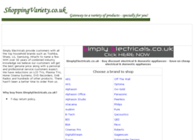 electrical-domestic-appliances.shoppingvariety.co.uk