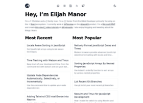 elijahmanor.com