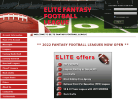 elitefantasyfootballleague.com