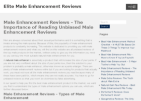 elitemaleenhancementreviews.com
