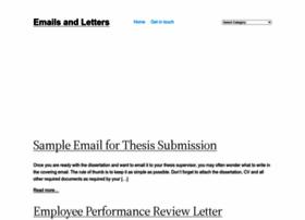 emailsandletters.com