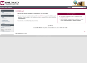 emailsupport.wcpss.net